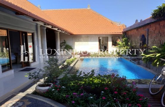 SANUR – MODERN BALINESE 2 BEDROOM VILLA FOR LEASEHOLD SALE IN BEACHSIDE OF SANUR (LHV104)