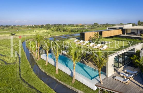 CANGGU: 5 BEDROOM LUXURIOUS MODERN LIVING SECLUDED BY RICE FIELDS (FHV132)