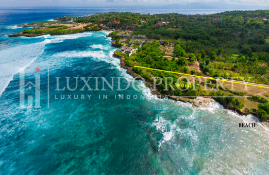 ABSOLUTE BEACHFRONT LAND FOR FREEHOLD 39 ARE IN NUSA LEMBONGAN (FHL156)