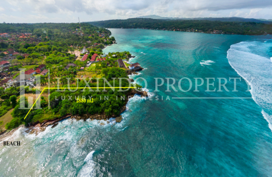 ABSOLUTE BEACHFRONT LAND FOR FREEHOLD 2880M2 IN NUSA LEMBONGAN (FHL157)